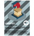 logistics color isometric poster vector image vector image