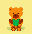 lovely teddy bear with heart vector image
