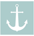 marine anchor the white color icon vector image vector image