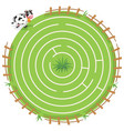maze labyrinth game vector image vector image
