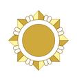 Medal award icon Gold star vector image