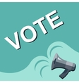 Megaphone with VOTE announcement Flat style vector image