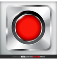 Metal Record Button Applicated for HTML and Flash vector image vector image
