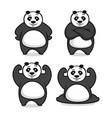 moder mascot panda logo vector image