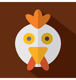 Modern Flat Design Chicken Icon vector image
