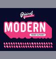 modern vintage 3d rounded alphabet vector image