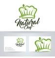 natural chef logo design vector image vector image