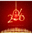 New Year Christmas Holidays Celebration Background vector image