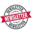 newsletter red round grunge vintage ribbon stamp vector image vector image