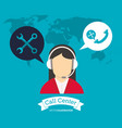 operator earphones call center world support vector image