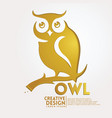 owl geometric paper craft style vector image