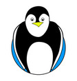 penguin sticker icon flat vector image
