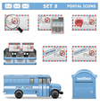 Postal Icons Set 8 vector image vector image