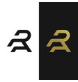 premium ra logo in two color variations vector image vector image