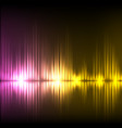Purple-yellow wave abstract equalizer background