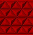 red 3d geometric pattern with pyramids abstract vector image vector image