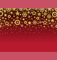 red christmas card with frame of golden vector image vector image