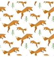 Red Fox Pattern vector image vector image