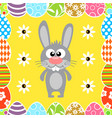 seamless easter background with funny rabbit vector image vector image