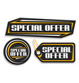 set for special offer sale vector image