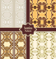 set of seamless ornamental patterns vector image