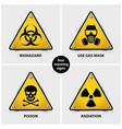 set warning signs vector image