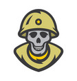 skull soldier cartoon vector image