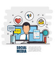 social media network concept vector image