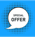 special offer retro message or banner in vintage vector image vector image