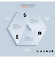 template for business concepts with icons can use vector image vector image