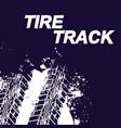 tire track splash background vector image vector image