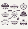 typography logo design collection vector image vector image