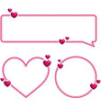 valentine s pink templates with hearts vector image