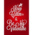 valentines day vintage lettering card background vector image