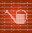 watering sign whitish icon on brick wall vector image vector image