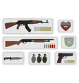 Weapons Game resources vector image vector image