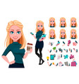 young beautiful business woman vector image vector image