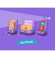 funny cartoon Funny camera ticket and vector image