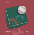baseball championship sport poster design vector image
