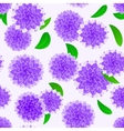 violet flower seamless pattern vector image
