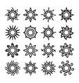 sun thin line icons vector image