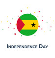 independence day of sao tome and principe vector image