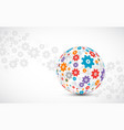 abstract technology sphere background global vector image vector image