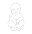 Adorable beautiful newborn baby looking up vector image vector image