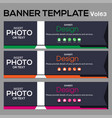Banner template for web design