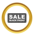 Black Friday plate icon vector image