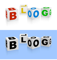 Blog icon vector image