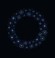 blue snowflake wreath vector image vector image
