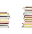 books stacks vector image vector image