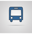 Bus symbol on gray background vector image
